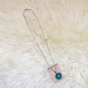 handmade Jewelry - NWT Sterling Silver Navajo Turquoise Necklace